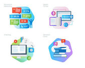 Material design icons set for education apps networking e-learning education cloud