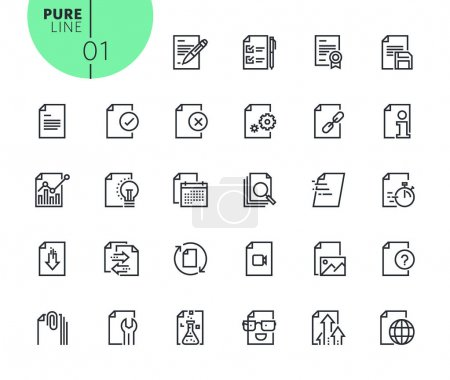 Illustration for Modern outline web icons collection for web and app design and development. Premium quality vector illustration of thin line web symbols. - Royalty Free Image