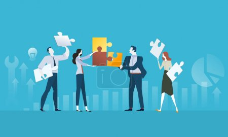 Illustration for Vector illustration concept for web banner, business presentation, advertising material. - Royalty Free Image