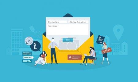 Illustration pour Concept d'illustration vectorielle pour bannière Web, présentation d'entreprise, matériel publicitaire . - image libre de droit