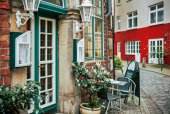 Historic Schnoorviertel in Bremen, Germany