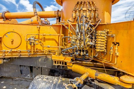 Hydraulic pressure system, hoses, fittings and levers on control