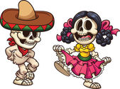 Mexican dancing skeletons
