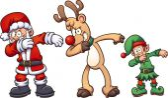 Christmas dabbing characters