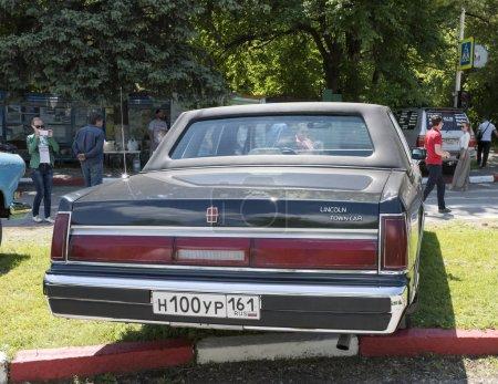 Vintage car lincoln town car