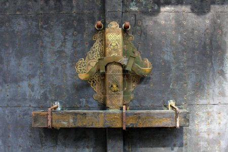 The locked door around the mausoleum or tomb of Ieyasu Tokugawa
