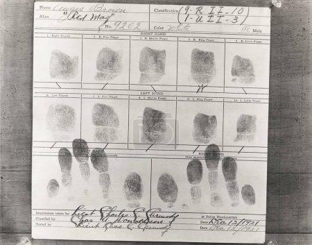 Close-up of fingerprints on paper