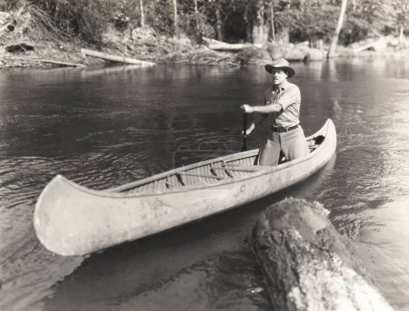 man rowing boat