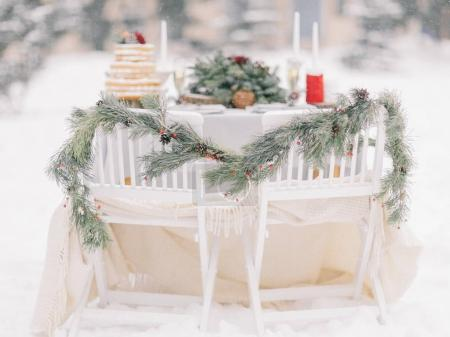 Wedding decorations winter outdoors