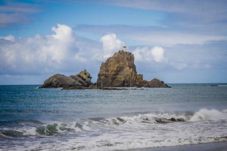 Rocks in blue sea