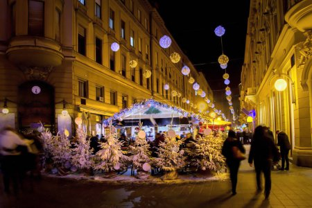 Christmas lights as part of Advent in Zagreb