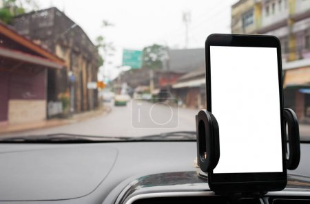 Use your smartphone in car to get GPS directions to your destination through the village. Smartphone is blank