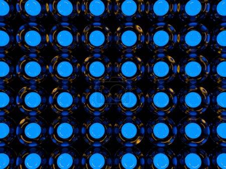 Photo pour Abstrait de boules lumineuses en verre. rendu 3D - image libre de droit