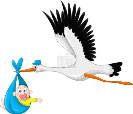 Photo for Illustration of stork and baby - Royalty Free Image