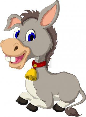 Photo pour Illustration de la séance de dessin animé drôle d'âne - image libre de droit