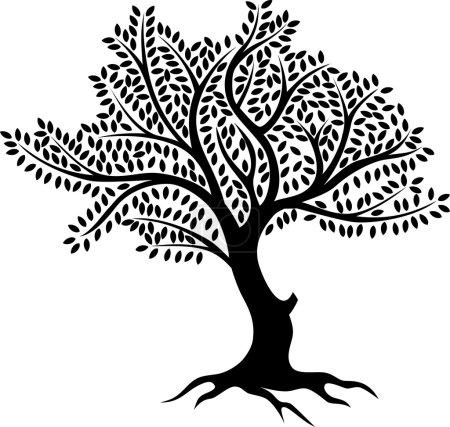 Photo pour Illustration de silhouette d'arbre pour vous design - image libre de droit