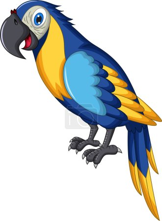 Photo for Illustration of cute parrot cartoon - Royalty Free Image