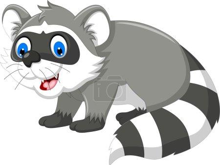 Photo pour Illustration de dessin animé de raton laveur pour vous design - image libre de droit