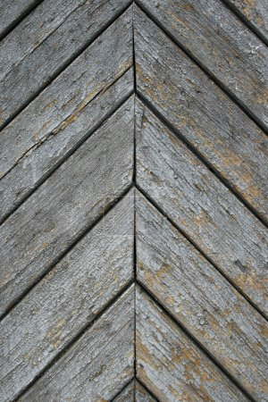 Old boards laid down diagonally