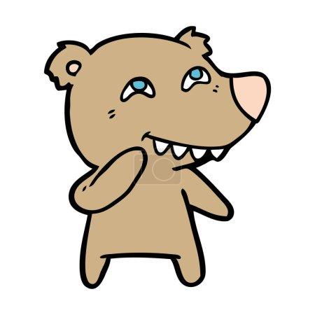 Vector illustration of bear cartoon character...