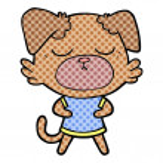 Vector illustration of cute cartoon dog...