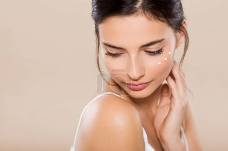 Beauty face with moisturizer