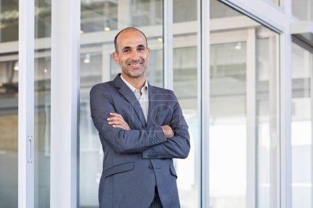 Smiling mature business man