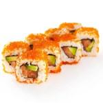 Asian menu. California Roll - in Masago caviar wit...