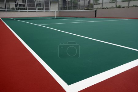 Newlly built tennis court
