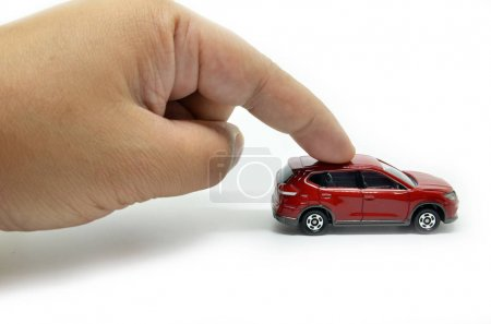 Moves the toy car