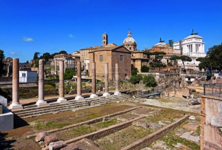 Panoramic view of Imperial forum - Rome, Italy
