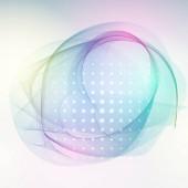 Abstract light wave design element Blue color