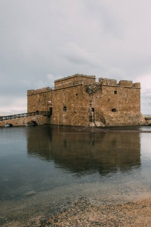Photo for Ancient castle in paphos near mediterranean sea - Royalty Free Image