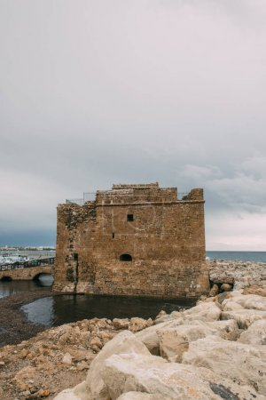 Photo for Ancient castle of paphos near mediterranean sea - Royalty Free Image