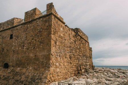 Photo pour Vieux château historique de paphos en cyprus - image libre de droit
