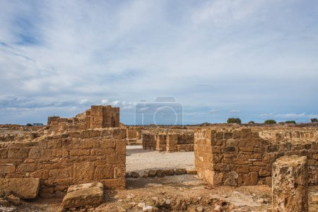 Photo for Ancient ruins of House of Theseus in paphos - Royalty Free Image