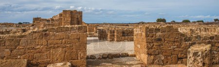 Panoramic shot of ancient House of Theseus ruins i...