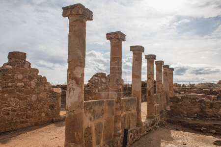 Photo for Walls and columns of ancient House of Theseus - Royalty Free Image