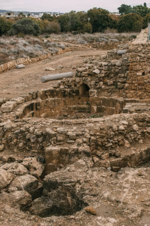 Photo for Ruins of old archaeological park in paphos - Royalty Free Image