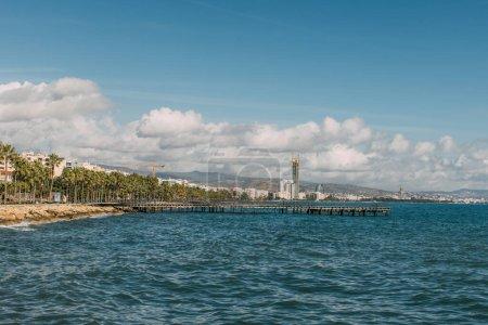 Photo pour Littoral de la mer Méditerranée à Cyprus - image libre de droit