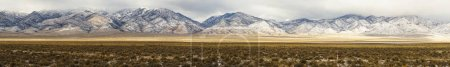Winter Landscape Panoramic Mount Agusta Range Central Nevada
