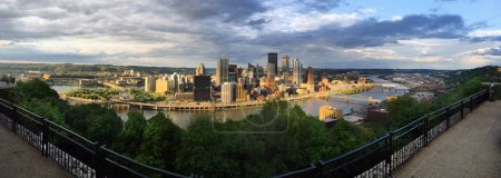 Panoramic Pittsburgh Pennsylvania Downtown City Skyline Three Rivers