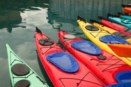 Kayaks in Multiple Color Float Marine Harbor