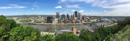 Three Rivers Pittsburgh Pennsylvania Aeiral Panoramic View
