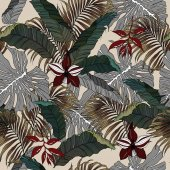 Seamless Tropical Jungle Leaves Background