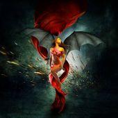 beautiful phantasy dragon queen