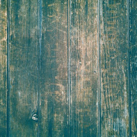 old wood structure in brown, blue and turquoise background