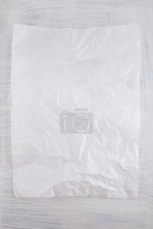 Photo pour Blanc froissé texture de papier gros plan peut être utilisé comme fond - image libre de droit