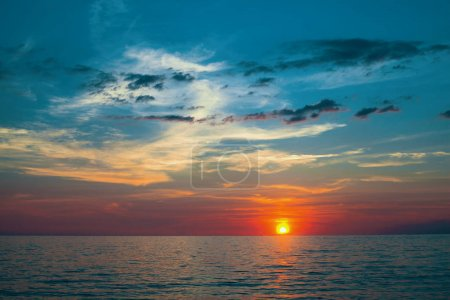 Beautiful sunset on Sea.