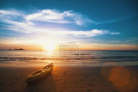 Sunset on the sea beach
